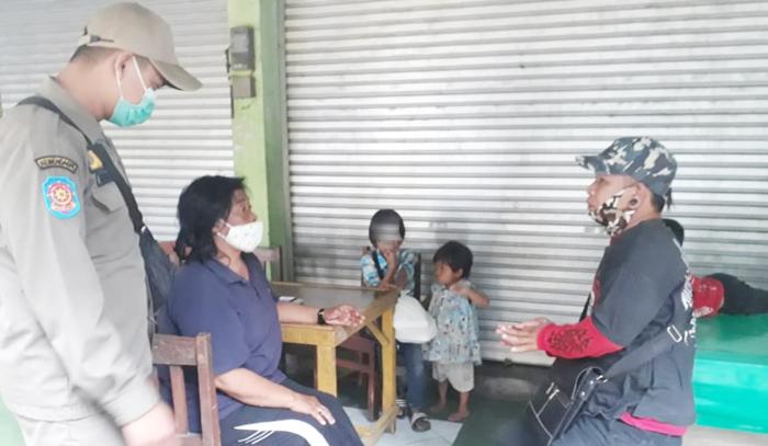 Operasi Masker, Satpol PP Grobogan Tangkap Pengemis Cilik