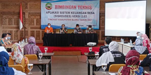 Dinas PMD Blora Gelar Bimtek Aplikasi Sistem Keuangan Desa
