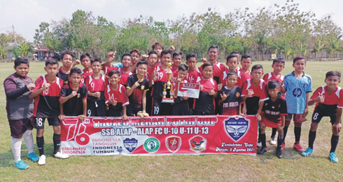 Persikaba U-13 Juarai Turnamen Trofeo Merah Putih Cup 2021