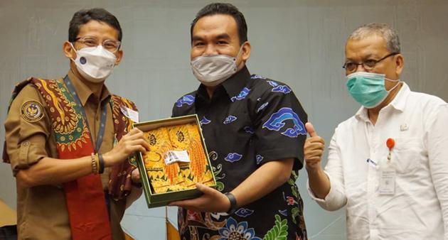 Bupati Blora Paparkan Potensi Wisata ke Menteri Sandiaga