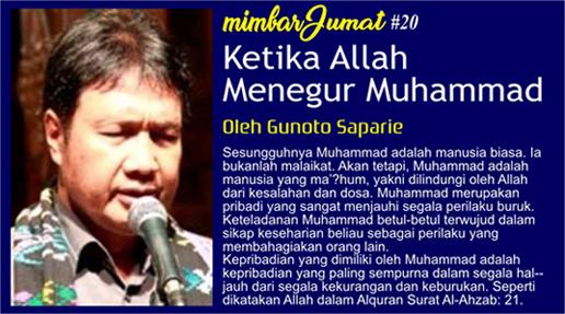 Ketika Allah Menegur Muhammad