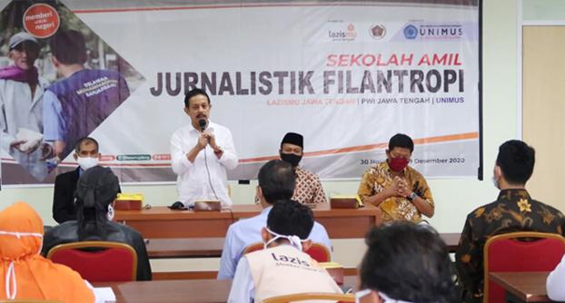 Lazismu dan PWI Jateng Gelar Sekolah Amil Jurnalistik Filantropi