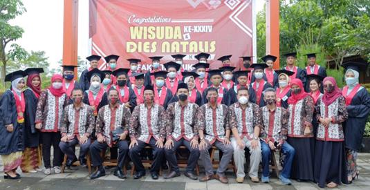Dies Natalis Ke-16 Fakultas Hukum Unwahas Wisuda 35 Mahasiswa